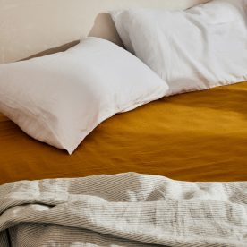 Linen Fitted Sheet By Milou Milou Product Directory The Local Project Image 01