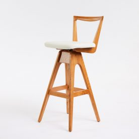 The Danish Bar Stool By Peter Brown Product Directory The Local Project Thbrown Lightash White 4