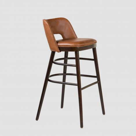 Otto Upholstered Low Back Barstool By Thonet