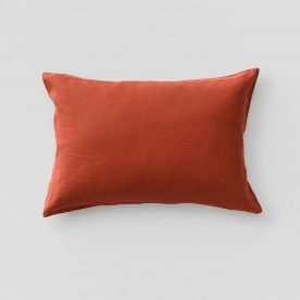 100% Linen Pillowslip Set (of Two) In Brick Image 01