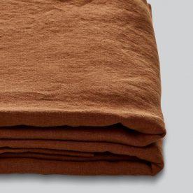 100% Linen Duvet Set In Tobacco Image 02