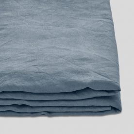 100% Linen Fitted Sheet In Lake Image 01