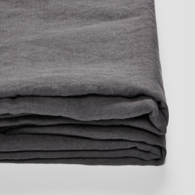 100% Linen Fitted Sheet In Charcoal Image 01