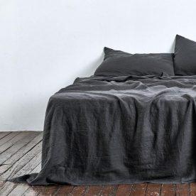 100% Linen Sheet Set In Kohl Image 01