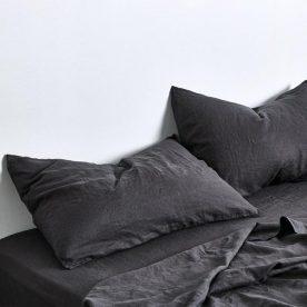 100% Linen Sheet Set In Kohl Image 03