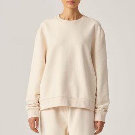 100% Organic Cotton Sweater In Bone Unisex Image 01