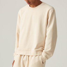100% Organic Cotton Sweater In Bone Unisex Image 02