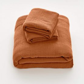 100% Organic Cotton Gauze Duvet Set In Terracotta (single & Double) By In Bed Product Directory The Local Project Image 01