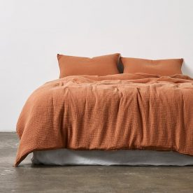 100% Organic Cotton Gauze Duvet Set In Terracotta (single & Double) By In Bed Product Directory The Local Project Image 03