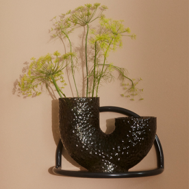 Arura Medium Glass Vase H26cm Black By Aytm Product Directory The Local Project 4