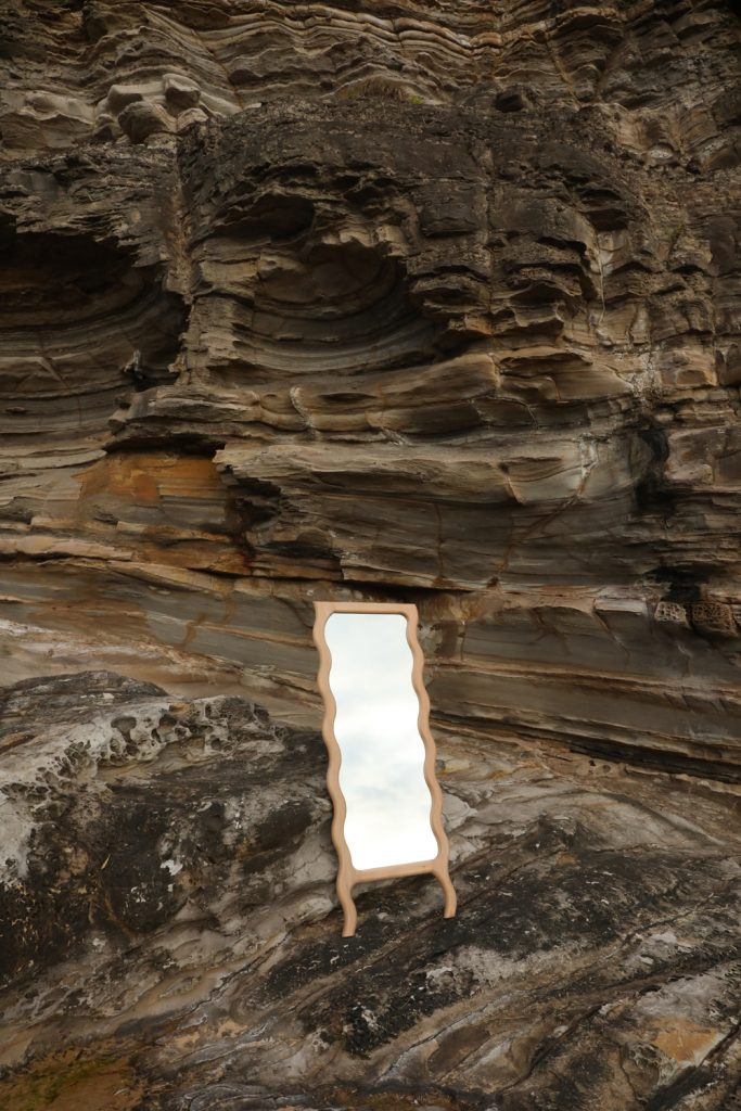 Wavy Floor Mirror By Knot Studio Image 01