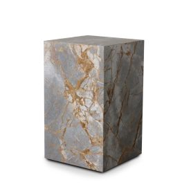 Stage Marble Side Table Tall Earth Marble By Rj Living Image 01