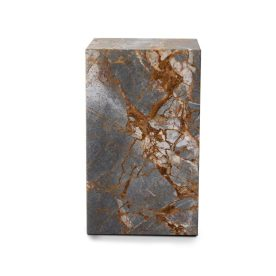 Stage Marble Side Table Tall Earth Marble By Rj Living Image 02